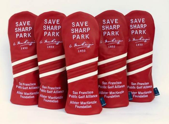 Photo: It's Back! The Save Sharp Park Red Leather Headcover!