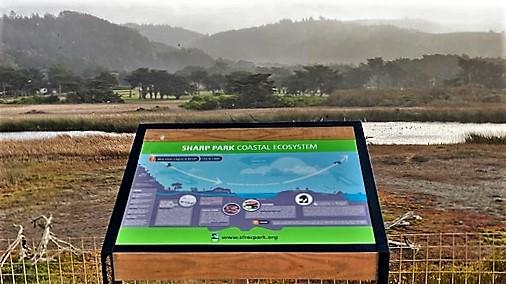 Storyboard on seawall coastal trail
