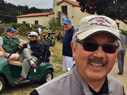 Mayor Ed Lee at Save Sharp Park Benefit Tournament